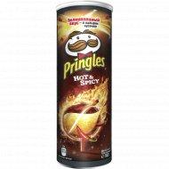 Чипсы «Pringles» с острым и пряным вкусом Hot&Spicy, 165 г.