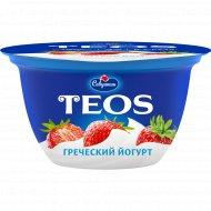 Йогурт греческий «Teos» клубника, 2 %, 140 г.