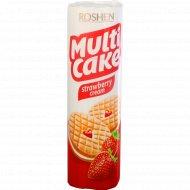 Печенье сахарное «Multicake» с начинкой клубника-крем, 195 г.