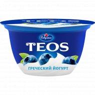 Йогурт греческий «Teos» черника, 2%, 140 г.