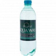 Вода минеральная газированная столовая «Aqua way» 0,5 л