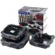 Набор тарелок «Luminarc» Authentic Black, 18 штук, 20.5х22х26 см