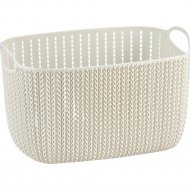 Корзина «Curver» s knit rect s, 226391, белый, 8 л, 300х220х170 мм.