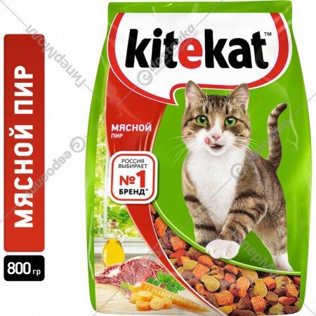 Корм для кошек «Kitekat» мясной пир, 800 г.