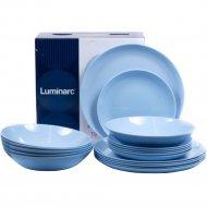Набор тарелок «Luminarc» Diwali light blue, 18 штук, 19х20х25 см