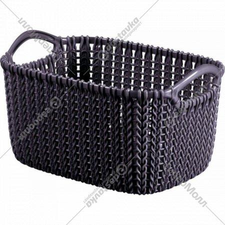 Корзина «Curver» knit, 03674-Х66-00, фиолетовый, 300х220х170 мм.