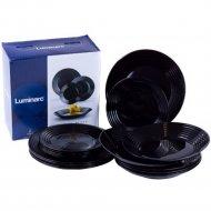 Набор тарелок «Luminarc» Harena Black, 18 штук, 19х23.5х25 см