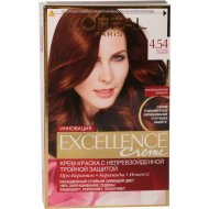 Крем-краска для волос «L'Oreal» Excellence creme, 4.54 Богатый медный.
