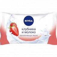 Мыло «Nivea» клубника и молоко 90 г.