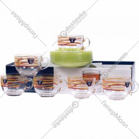 Чайный набор «Luminarc» Rubans, 12 предметов, 220 мл