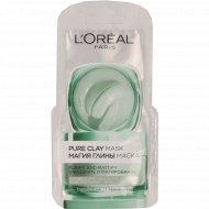 Маска для лица «L'Oreal» магия глины, очищение и матирование, 6 мл.
