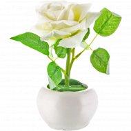Цветы искусственные в горшке, 19 см.