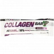 Батончик «Ironman» Collagen Bar, черная смородина, 45 г.
