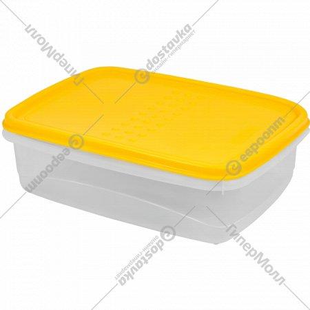 Емкость для продуктов «Pattern» Flex, прямоугольная, охровый, 1.3 л.
