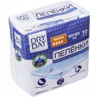Пелёнки гигиенические одноразовые «Dry Day» Super, 60х60, 10 шт.
