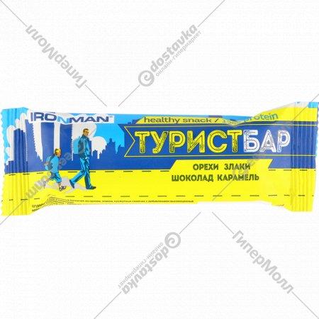 Батончик «ТуристБар» орехи злаки, шоколад карамель, 45 г.