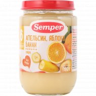 Пюре «Semper» апельсин, яблоко, банан, 190 г.