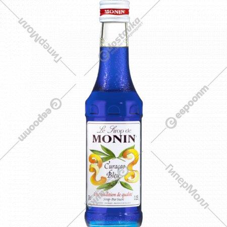 Сироп «Monin» Кюрасао Блю, 250 мл.