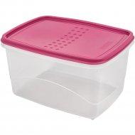 Емкость для продуктов «Pattern» Flex, прямоугольная, пурпурный, 2.3 л.