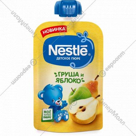 Пюре «Nestle» груша-яблоко, 5+, пауч, 90 г.