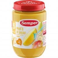 Пюре «Semper» манго и банан, 190 г.