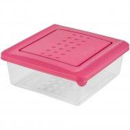 Емкость для хранения продуктов «Pattern» квадратная, пурпурный, 0.5 л.
