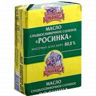 Масло сладкосливочное «Бабушкина крынка» Росинка, соленое, 80%, 180 г