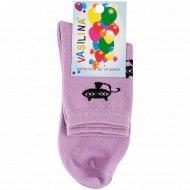 Носки детские «Vasilina» фиолетовые, размер 22-24.