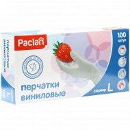 Перчатки виниловые «Paclan» размер L, 100 шт.