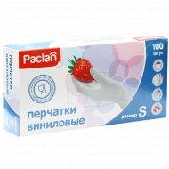 Перчатки виниловые «Paclan» размер S, 100 шт.
