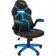 Компьютерное кресло «Chairman» Game 18, черно-голубое