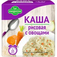 Каша рисовая «Лидкон» с овощами, 180 г.