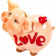 Копилка «Свинка» сердце.