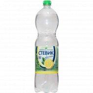 Напиток газированный безалкогольный «Стевик» лимон, 1.5 л
