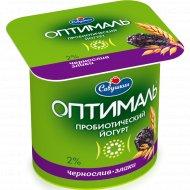 Йогурт «Оптималь» чернослив-злаки, 2 %, 150 г.