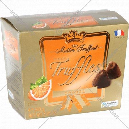 Конфеты «Трюфель с какао» со вкусом горького апельсина, 200 г.