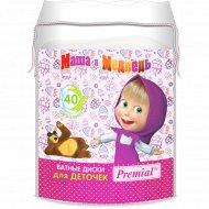 Ватные диски для детской гигиены «Premial» Маша и медведь, 40 шт.