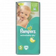 Подгузники «Pampers» Active Baby-Dry 11-18 кг, 5 размер, 58 шт.