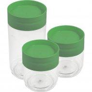 Набор банок для хранения продуктов, графитовый, 2 шт х 0.5л; 1 шт х 1 л.