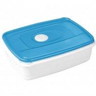 Емкость для СВЧ «Micro Top Box» прямоугольная, голубая, 0.3 л.