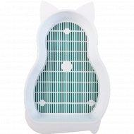 Туалет для животных «Кошка» с сеткой.