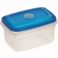 Емкость для СВЧ «Micro Top Box» прямоугольная, голубая, 0.6 л.