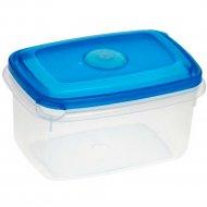 Емкость для СВЧ «Micro Top Box» прямоугольная, голубая, 1.3 л.