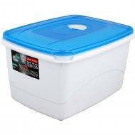 Емкость для СВЧ «Micro Top Box» прямоугольная, голубая, 2.3 л.
