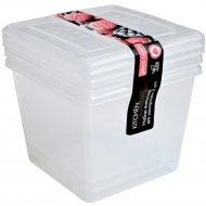 Набор емкостей для заморозки, натуральный, 3 шт х 1 л.