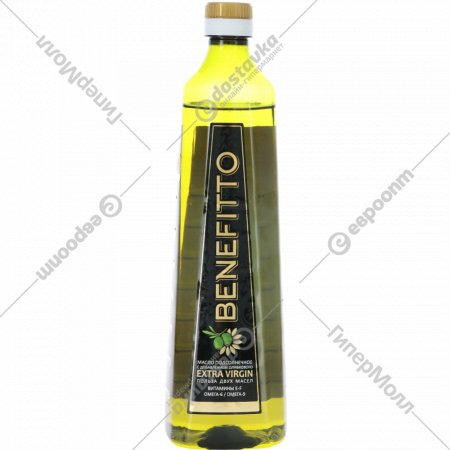 Масло подсолнечное «Benefitto» с добавлением масла оливкового, 0.8 л.