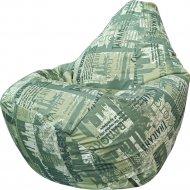 Бескаркасное кресло «Flagman» Г3.7-36, City, зеленый