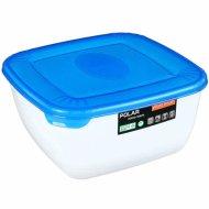Емкость для СВЧ ««Polar» Micro Wave» квадратная, голубая, 2.5 л.