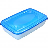 Емкость для СВЧ ««Polar» Micro Wave» прямоугольная, голубая, 0.45 л.