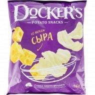 Снэки картофельные «Docker's» со вкусом сыра, 160 г.